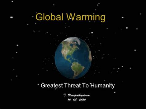 powerpoint  research paper  global warming