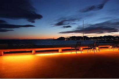 Cannes Croisette Nuit France Eximtur Paysage Sud