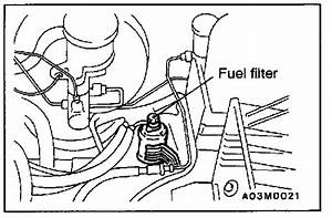 Where Is The Fuel Filter Located On A 2001 Mitsubishi