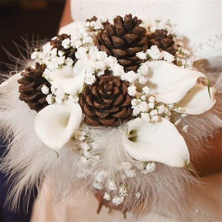 pine cone wedding bouquet laura andrews real wedding