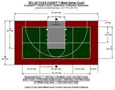 dimensions  backyard basketball  court