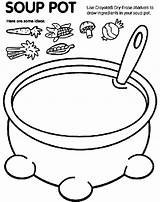 Soup Pot Coloring Pages Crayola sketch template