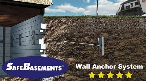 how to repair a basement wall safebasements wall anchors foundation repair