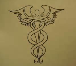 Caduceus Medical Tattoo Designs