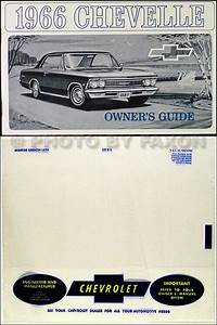 1966 Chevelle Owners Manual With Envelope 66 El Camino Ss