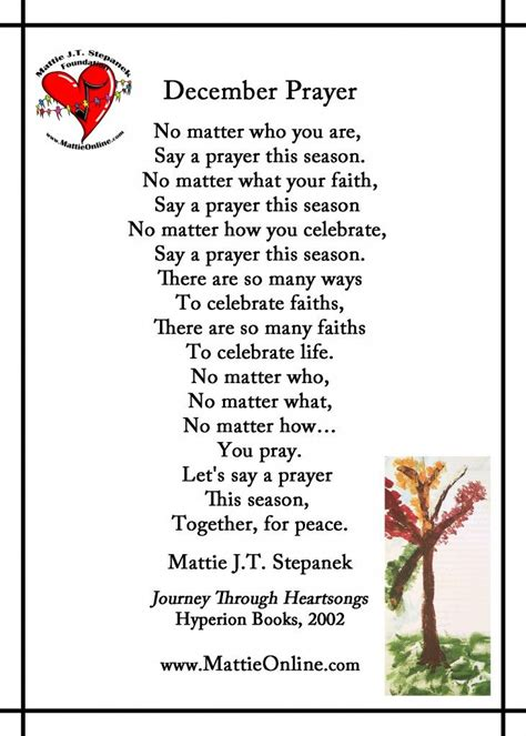 mattie stepanek poems december prayer translations