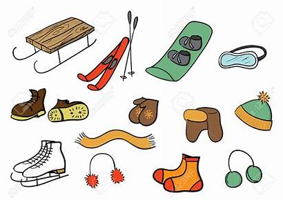Winter Clipart Stuff Clothes Cliparts Inverno Olympic