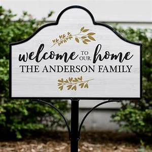 Personalized, Welcome, To, Our, Home, Magnetic, Yard, Sign