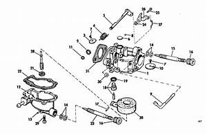 Johnson Carburetor Group Parts For 1969 4hp 4w69b Outboard Motor