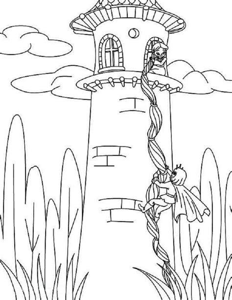 rapunzel castle coloring pages coloring pages ideas