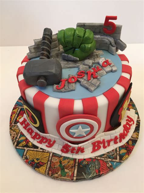 Find this pin and more on let them eat cake by lisa keable. An Avengers cake from Love2bake.org Oct 2015 | Marvel cake ...