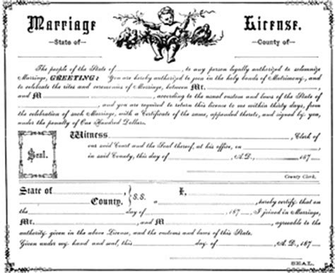 marriage license clipart