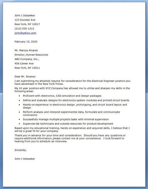 cover letter  engineering jobinternship life