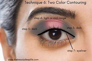 Diagram Showing How To Apply Eyeshadow Using Pro Makeup