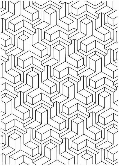 Coloring Pages Geometric Pattern Adult Printable Designs