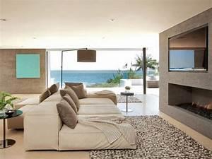 salon contemporain et tendance d39ambiance cocon With tapis de marche avec canapé confortable et design