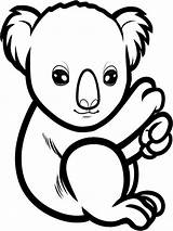 Koala Coloring Pages Animal Animals Colors Recommended sketch template