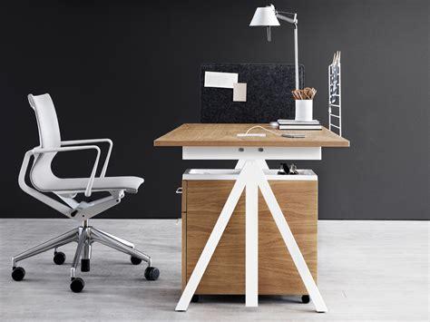 adjustable height office desk buy the string works height adjustable desk at nest co uk