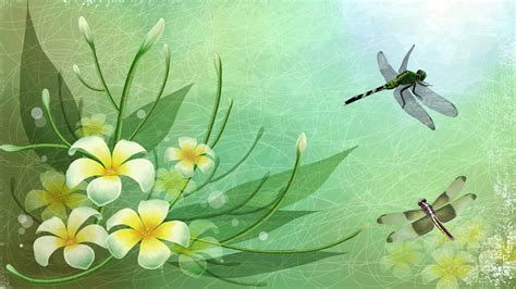 Spring Night Fantasy Abstract Background Wallpapers On