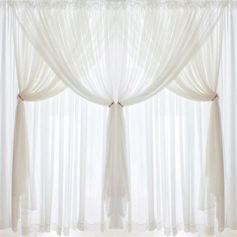 hot luxury quality chiffon curtains fluffy tulle  layers