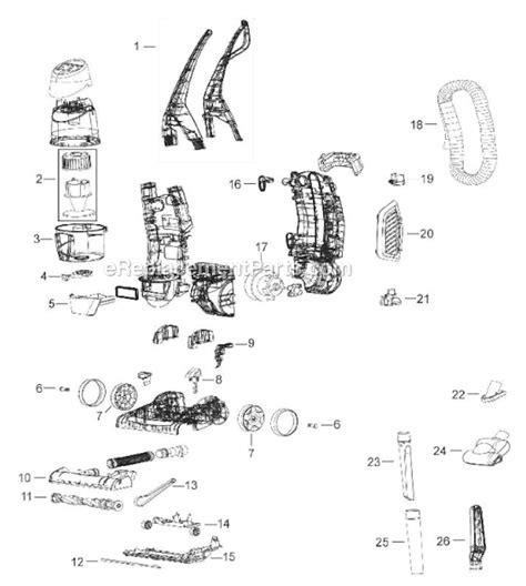bissell total floors belt replacement bissell 52c2 parts list and diagram ereplacementparts