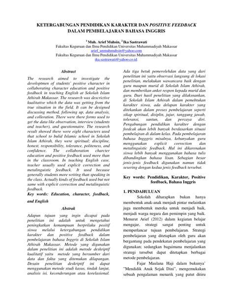 artikel tentang sistem pendidikan versi bahasa inggris