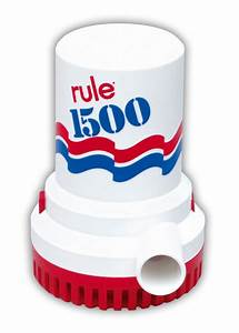 Rule 1500 Gph Non Automatic Bilge Pump 24v