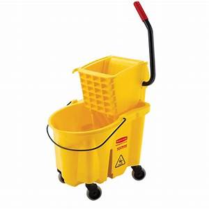 Rubbermaid Commercial Products 26 Qt. WaveBrake Mop Bucket ...