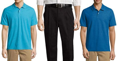 Men's Pants And Polo Shirt Only .98 For Both