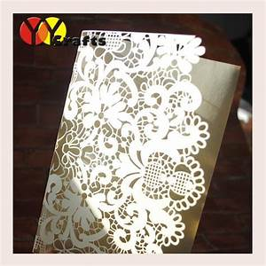 Cheap elegant wedding invitations cards laser cut tri for Inexpensive tri fold wedding invitations