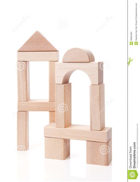 house made of blocks house made out of wooden building blocks stock photo image 39063487