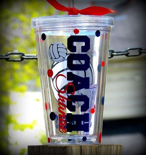 personalized volleyball coach tumbler volleyball cups