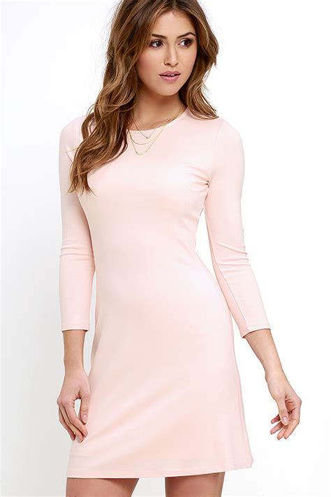 light pink dress with sleeves classic light pink dress sleeve dress a line