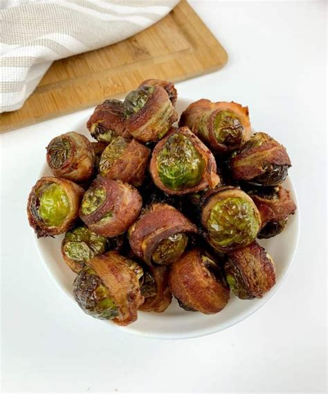 sprouts brussel balsamic vinegar bacon wrapped fryer air