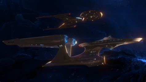 Star Trek Discovery Wallpaper Andrew Gavrilov Uss Enterprise A Meets Uss Discovery