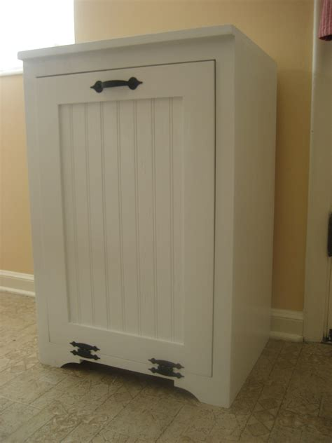 kitchen trash cabinet white tilt out wood trash can cabinet diy projects 3386