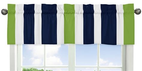 navy blue and lime green stripecollection window valance