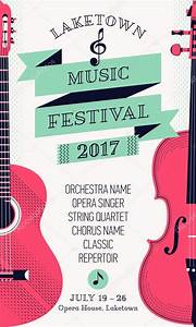 Modern classical music festival poster — Stock Vector ...