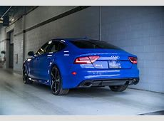 Audi RS7 Triplets Nagoro Blue, Estoril Blue and Sepang