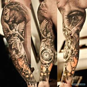Tatouage Demi Bras Homme : tatouage ange horloge oeil realiste homme bras complet tatoo tatouage tatouage bras complet ~ Melissatoandfro.com Idées de Décoration