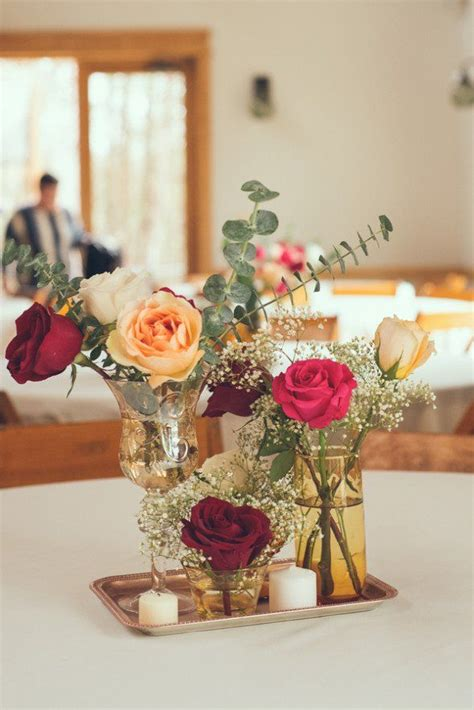 ideas  simple wedding centerpieces
