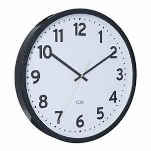 Buy toki kennett charcoal silent sweep wall clock 50cm for Silent sweep wall clock australia