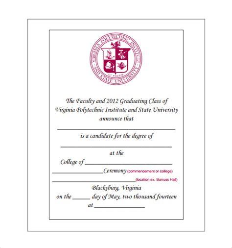 Graduation Announcement Template 9 Graduation Announcement Templates For Free
