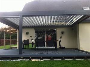 Fabriquer Une Pergola En Alu : pergola bioclimatique en aluminium lames orientables ~ Edinachiropracticcenter.com Idées de Décoration