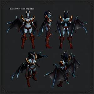 [Dota2] Queen of Pain Blades of Torment — polycount