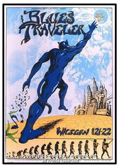 blues traveler silkscreen concert poster  emek