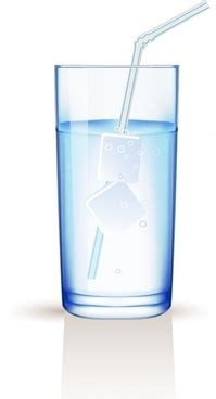 glass  water vector  vector