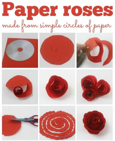 step  step diy papers  flower craft ideas