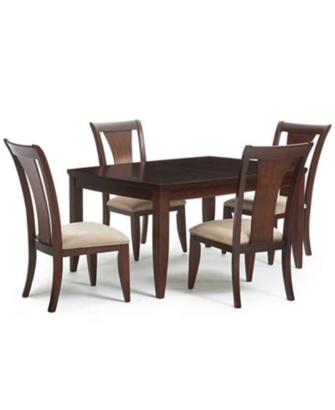 macy s furniture kitchen tables metropolitan contemporary 5 piece dining table and 4 side