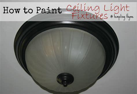 updating even more brass light fixtures using spray paint